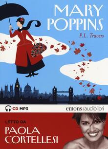 Ipabsantonioabatetrino.it Mary Poppins letto da Paola Cortellesi. Audiolibro. CD Audio formato MP3 Image
