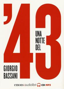 Promoartpalermo.it Una notte del '43. Audiolibro. CD Audio formato MP3 Image