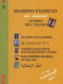 Winniearcher.com Quaderno d'esercizi per imparare le parole dell'italiano. Vol. 3 Image