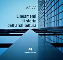 Lineamenti di storia dell'architettura - copertina