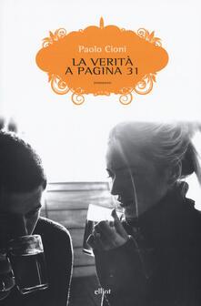 La verità a pagina 31 - Paolo Cioni - copertina