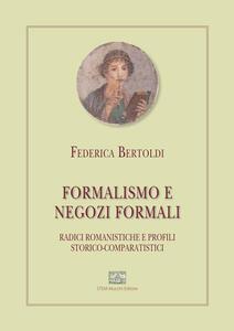 Formalismo e negozi formali