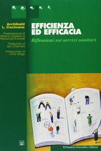 Efficienza ed efficacia. Riflessioni sparse sui servizi sanitari