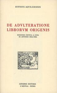De adulteratione librorum Origenis