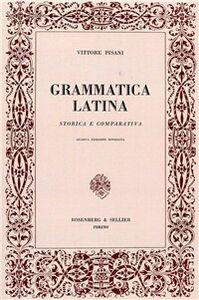 Grammatica latina storia e comparativa