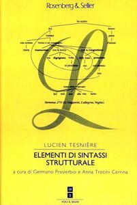 Elementi di sintassi strutturale - Lucien Tesnière - copertina