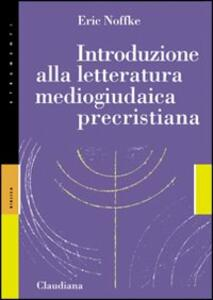 Introduzione alla letteratura mediogiudaica precristiana