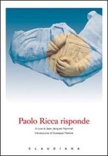 Secchiarapita.it Paolo Ricca risponde Image