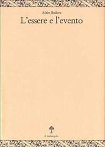 Libro L' essere e l'evento Alain Badiou