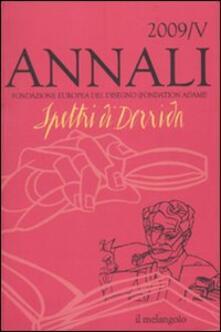 Annali della Fondazione Europea del Disegno (2009). Vol. 4: Spettri di Derrida. - copertina
