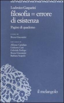 Fondazionesergioperlamusica.it Filosofia = errore di esistenza Image