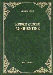 Memorie storiche agrigentine (rist. anast. Girgenti, 1866)