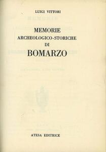 Memorie archeologico-storiche di Bomarzo (rist. anast. Roma, 1846) - Luigi Vittori - copertina