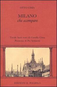 Milano che scompare - Otto Cima - copertina