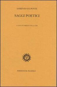 Saggi poetici - Lorenzo Da Ponte - copertina
