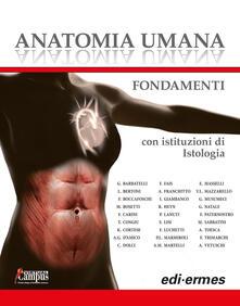 Anatomia umana. Fondamenti. Con istituzioni di istologia. Con e-book. Con espansione online - copertina