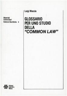 Winniearcher.com Glossario per uno studio della «Common law» Image