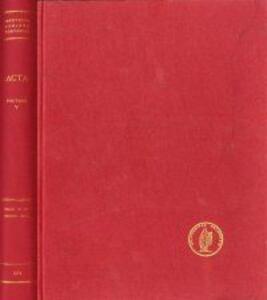Acta ad archaeologiam et artium historiam pertinentia. Christ in the council hall. Vol. 5
