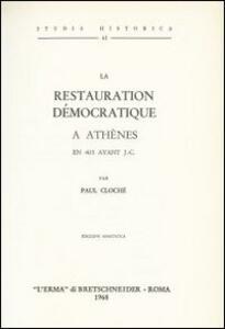 La restauration démocratique à Athènes en 403 avant J. C. (1915)