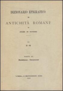 Dizionario epigrafico di antichità romane. Vol. 2\1: C-Consul.