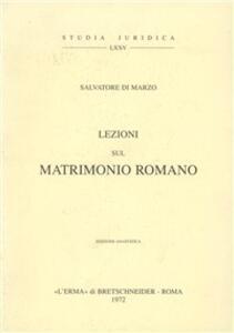 Lezioni sul matrimonio romano (1) (1919) - Salvatore Di Marzo - copertina