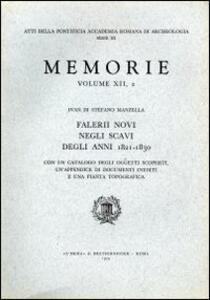 Falerii Novi negli scavi degli anni 1821-1830 - Ivan Di Stefano Manzella - copertina