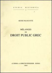 Mélanges de droit public grec (1904)