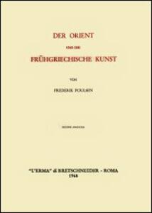 Der Orient und die frühgriechische Kunst (1912) - Frederik Poulsen - copertina