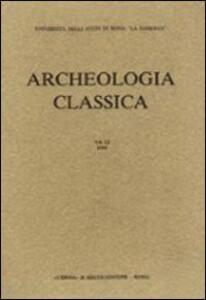 Archeologia classica. Vol. 31 - copertina