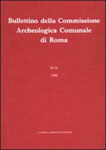 Bullettino della Commissione archeologica comunale di Roma. Vol. 85 - copertina