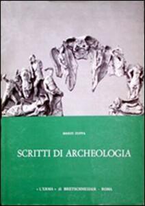 Scritti di archeologia - Mario Zuffa - copertina
