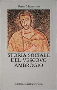 Storia sociale del vescovo Ambrogio - Santo Mazzarino - copertina
