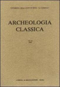 Archeologia classica. Vol. 36 - copertina