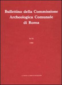 Bullettino della Commissione archeologica comunale di Roma. Vol. 91\2 - copertina