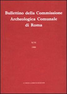 Bullettino della Commissione archeologica comunale di Roma. Vol. 89\2 - copertina