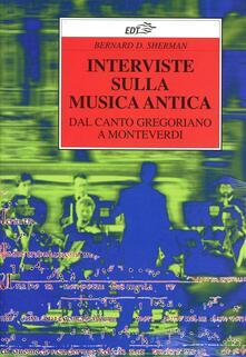 Premioquesti.it Interviste sulla musica antica. Dal canto gregoriano a Monteverdi Image