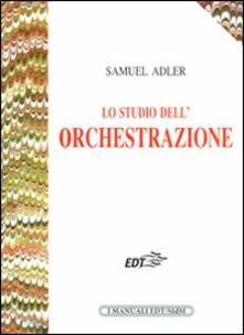 Lo studio dell'orchestrazione - Samuel Adler - copertina