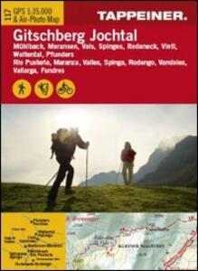 Cartina Gitschberg Jochtal. Carta escursionistica & carta panoramica aerea. Ediz. multilingue