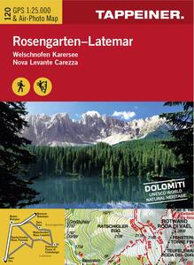 Cartina Catinaccio. Carta escursionistica & carta panoramica aerea. Ediz. multilingue - copertina