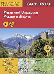 Letterarioprimopiano.it Cartina Merano e dintorni. Carta escursionistica & carta panoramica aerea. Ediz. multilingue Image