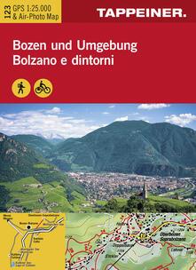 Chievoveronavalpo.it Cartina Bolzano e dintorni. Carta escursionistica & carta panoramica aerea. Ediz. multilingue Image