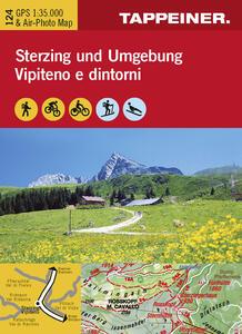 Cartina Vipiteno e dintorni. Carta escursionistica & carta panoramica aerea. Ediz. multilingue - copertina