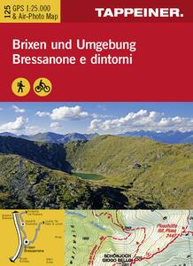 Bressanone e dintorni. Carta topografica 1:25.000. Ediz. italiana e tedesca - copertina