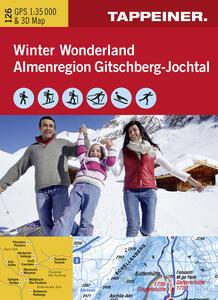 Winter Wonderland Almenregion Gitschberg Jochtal. Carta topografica invernale. Ediz. italiana e tedesca