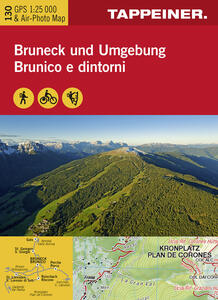 Brunico e dintorni. Carta topografica 1:25.000. Ediz. italiana e tedesca