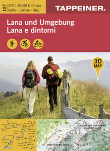 Lana e dintorni. Carta escursionistica & panoramica aerea 1:25.000. Ediz. italiana e tedesca