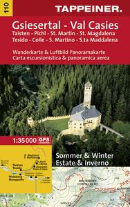 Val Casies. Tesido Colle S. Martino S.ta Maddalena. Carta escursionistica & panoramica aerea 1:35.000. Ediz. italiana e tedesca