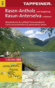 Rasun-Anterselva e dintorni. Carta escursionistica & panoramica aerea 1:35.000. Ediz. italiana e tedesca