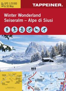 Winter wonderland Vipiteno e Alta Val Isarco. Carta topografica 1:35.000. Con 5 foto panoramiche. Ediz. italiana e tedesca - copertina