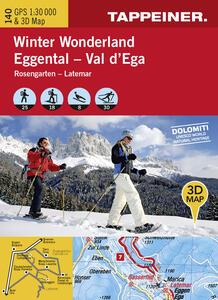 Winter wonderland Val d'Ega. Carta topografica invernale 1:30.000. Con panoramiche 3D. Ediz. italiana e tedesca - copertina